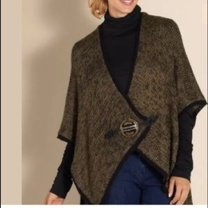 Soft Surroundings Mei Ling Cape Shrug O/S